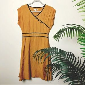Modcloth Mustard Yellow Vintage Inspired Dress